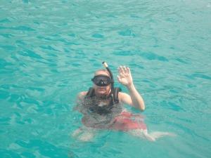 Trevor snorkeling