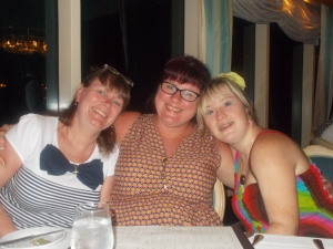 Me looking tanned with Diane and Zoe not so much.