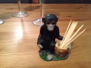 The Monkey Toothpick Holder